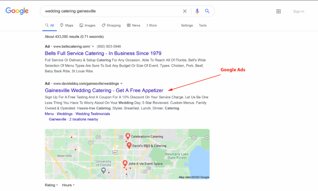 take over serps ppc ads