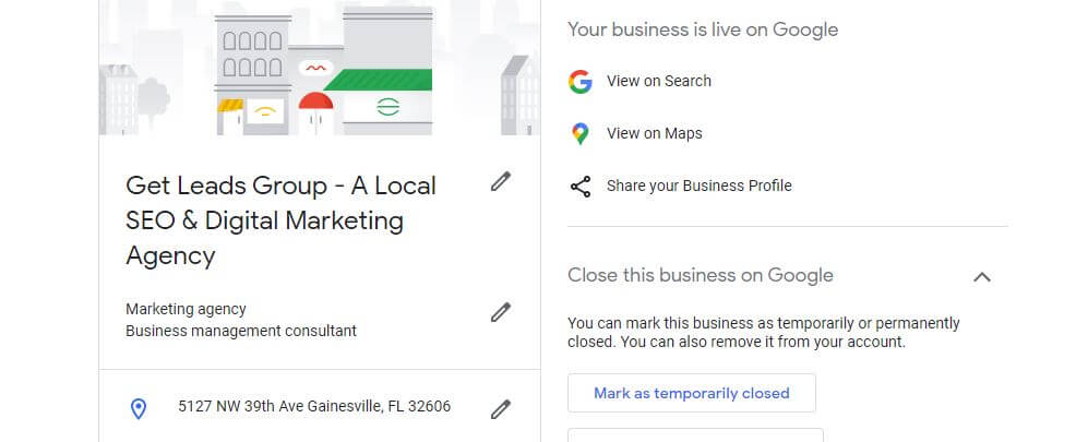 complete Google my business listing